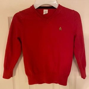 Red gap sweater for 4 year old boys